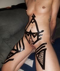 Had some fun with black tape earlier