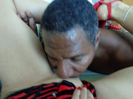 Licking my Mature lady friend's pussy