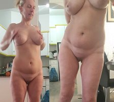 My girlfriends face big saggy tits and bald cunt for your comments and scen...