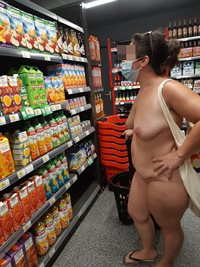 Doing the shopping at the naturist village of Cap d'Agde