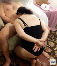 Filming wife's Submissive blowjob on this guy