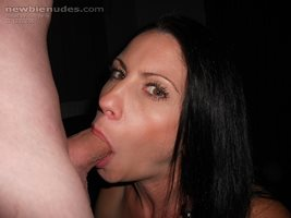 Com'on guys, I want more cocks going down the back of my throat like this.